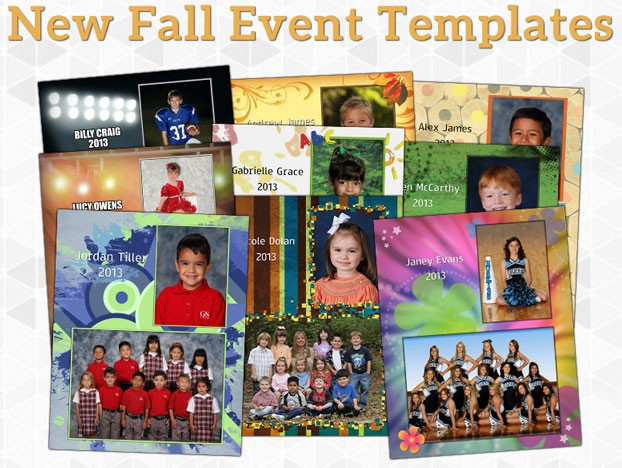 School Fall Event Templates by Integrity School Portraits