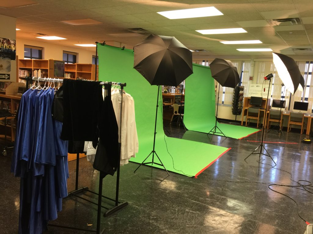 High School Senior Portraits Setup